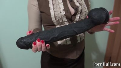 huge black dildo in a broken-ass Natasha!