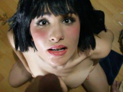 18 Allora Ashlyn POV Sucks Cock and gets a huge facial!
