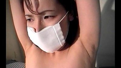 Jap sex slave in ropes pussy teased and finger fucked deep