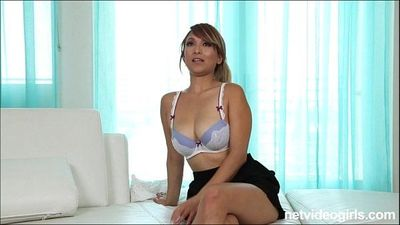 Blonde amateur asian with big tits sucks