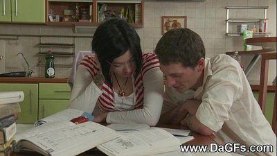 Schoolgirl creampied while doing homeworkHD