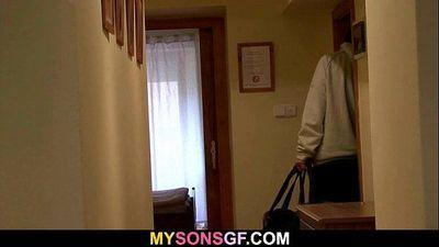 Smart dad seduces his son\