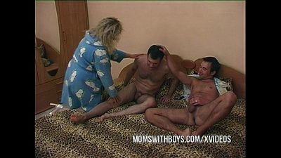 Stepmom Fucking Two Young Cocks