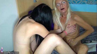 OldNanny Young girl and pretty mature masturbating togetherHD
