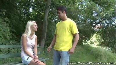 Casual Teen SexBlonde teeny fucked after breakupHD