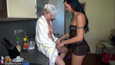 OldNanny Nice threesome, young couple is dealt with matureHD