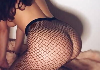 Passionate fuck with horny girlfriend in stockings