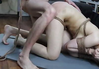 Sub Girl Tied Up, Spanking and Hard Fucked