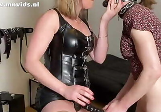 Noortje Gets her second Anal Stretching Session from Mistress Noir