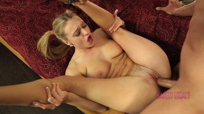 Sexy Teen Natalia Starr ride a cock