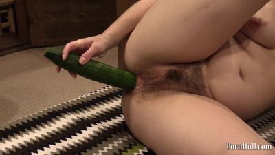 anal sex with a cucumber, a young girl