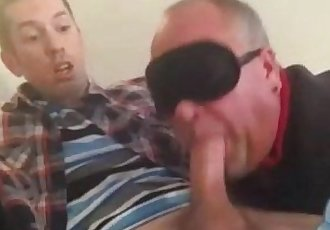 Daddy sucking a straight twink dick