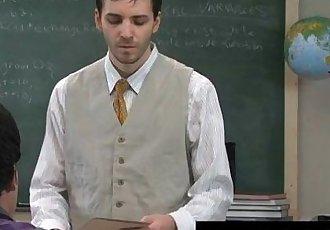 مذهلة مثلي الجنس المشهد في بعض الأحيان هذا قرنية المعلم يأخذ ميزة من له