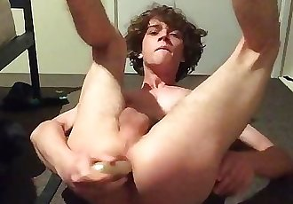 Training my little butthole for cock