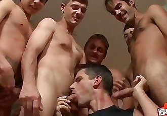 First Time Bareback bukkake Gangbang for cute guy - Bukkake Boys