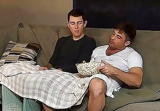 Stepdaddy And Stepson Fucking On Movie Night 6 min 720p