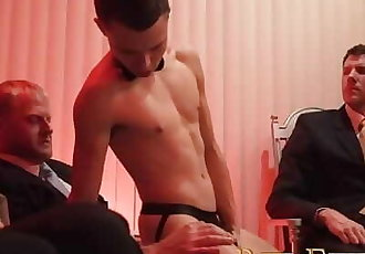 BoyForSale - Young boys hole sampled and stretched by group of hung men