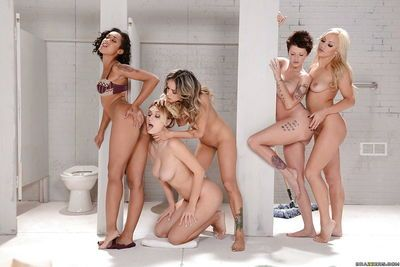 Nadia Styles- Natalia Starr and Skin Diamond having a lesbian threesome