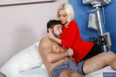 Romantic amateur blonde with huge tits Riley Evans is fueled with sperm
