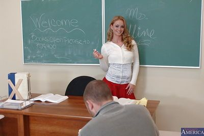 Bright teacher Aline prefers fucking with students and getting cumshots