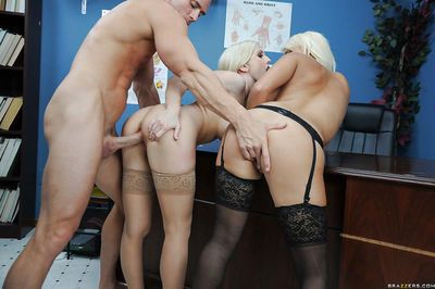 Jacky Joy & Christie Stevens have a groupsex with a well-hung doctor - part 2