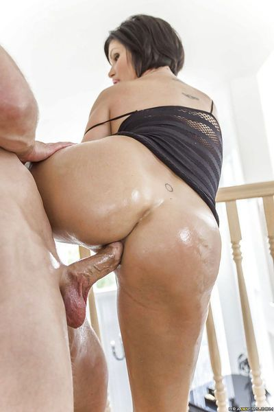Latina cougar Shay Fox has her big booty oiled up for ass fucking - part 2