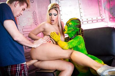 Freaky cosplay cougars Eva Parcker and Tiffany Doll taking ass pounding