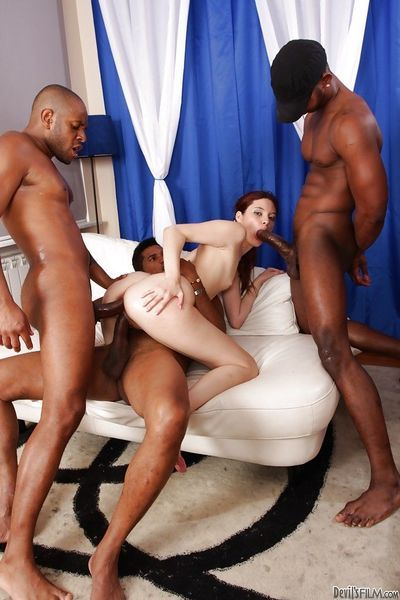 Gorgeous interracial anal groupsex with spicy as fuck Atlanta - part 2