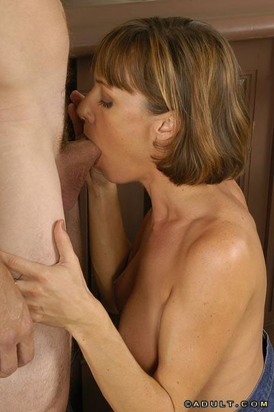 Graceful MILF with nice tits gives a deepthroat blowjob and gets nailed tough - part 2