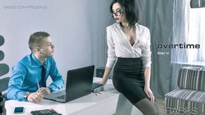 Glasses wearing secretary taking cumshot after hardcore office sex - part 2