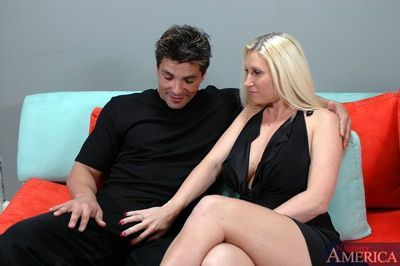 Big titted blond mom Devon Lee fucking meaty dick with her wet slit