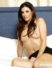 Busty milf India Summer is touching and masturbating her vagina
