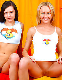 Tiny tits Lesbian teen Michelle N spreads legs and pleases her girlfriend