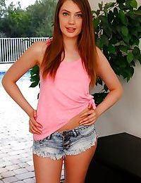 Amateur redhead Elena Koshka is proud of her astonishing young body and pussy