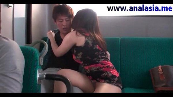 Asian teen fucked in bus and gets cumshot