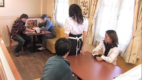 Japanese waitress food gangbang HD
