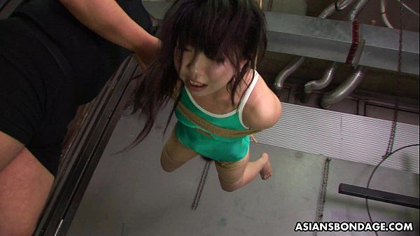 Asian freak tied up to be sexually tortured by some pervs HD