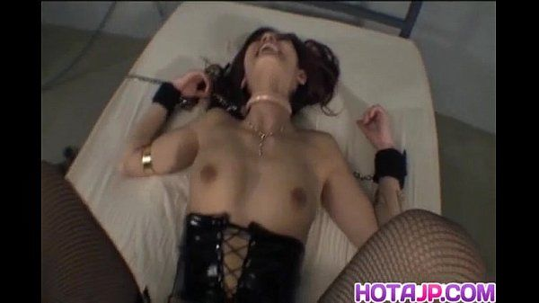 Mei Haruka in chains and stockings is fucked in mouth and twat
