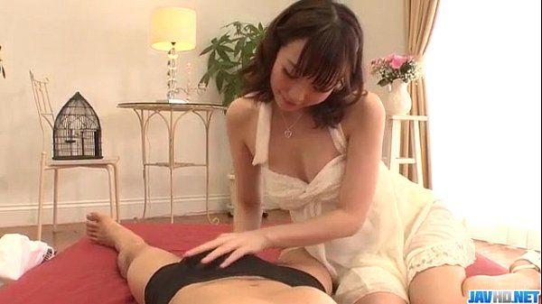 Hitomi Oki amazes with her soft skills in sucking cock