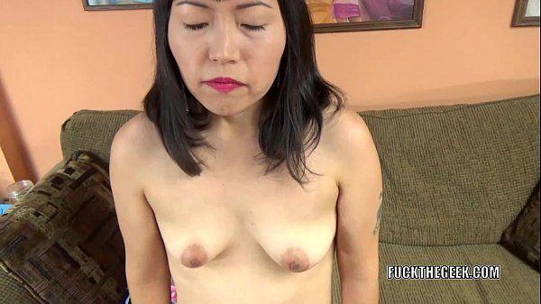 Asian slut Yuka Ozaki is on her knees and sucking dick HD