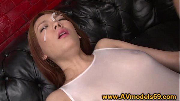 Asian babe receives facials while stimulated with vibrator
