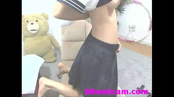 66webcam.com Japanese Camgirl Cute Sailor Suit Masturbation on Webcam