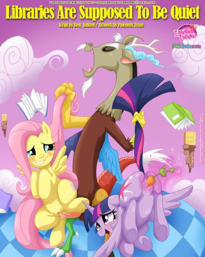 Equestria Untamed (Palcomix) Libraries Are Supposed To Be Quiet (My Little Pony Friendship Is Magic)
