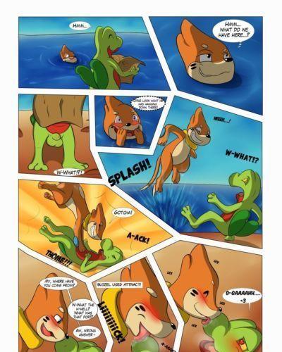 Asbel_Lhant Beach Dangers (Pokemon)