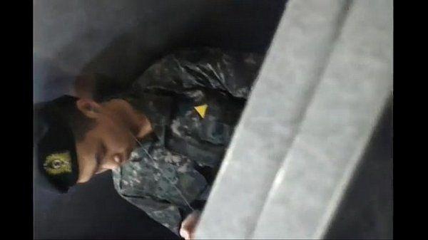 Korean Soldier JO in Toilet