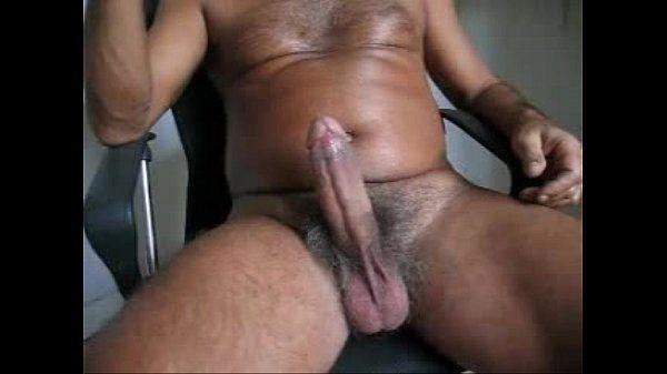 Hairy Daddy big cock cum explosion