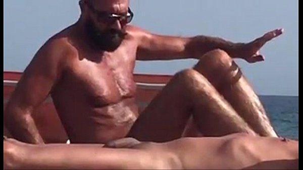 spy daddy bear at the beach