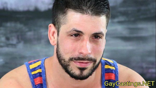 Spanish hunk sucks cock at gaycastings