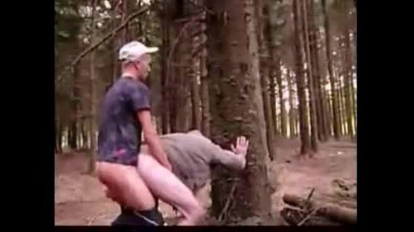 Twink fucks older in forest