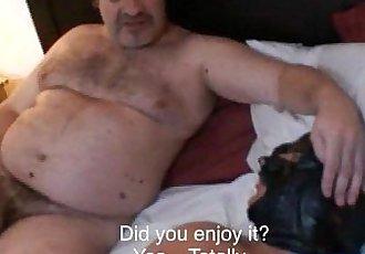 Hung daddy bear fucking
